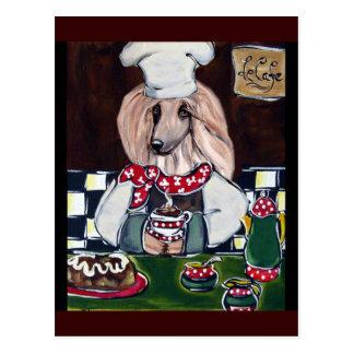 Afghan Hound Chef Postcard