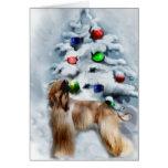 Afghan Hound Christmas Gifts Greeting Card