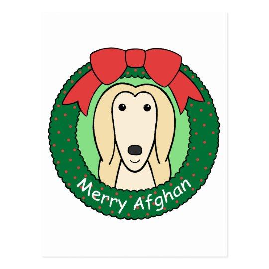 Afghan Hound Christmas Postcard