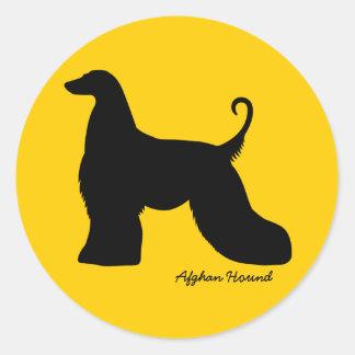 Afghan Hound Classic Round Sticker