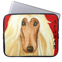 Neoprene Laptop Sleeve 15' with Afghan Hound Phone Cases design