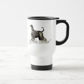 Afghan Hound Detailed Black Mug