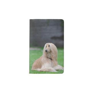 Afghan Hound dog beautiful photo pocket notebook