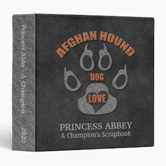 Afghan Hound Dog Breed Personalized Scrapbook Binder