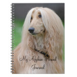 Afghan Hound dog custom Journal / Noteboook