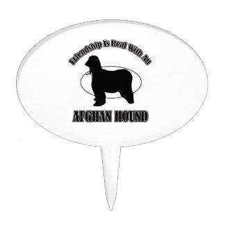 afghan hound DOG DESIGNS Cake Pick