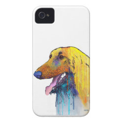 Case-Mate iPhone 4 Barely There Universal Case with Afghan Hound Phone Cases design