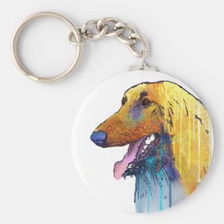 Afghan Hound Dog Keychain