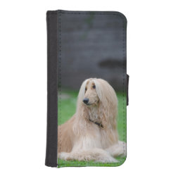 iPhone 5/5s Wallet Case with Afghan Hound Phone Cases design