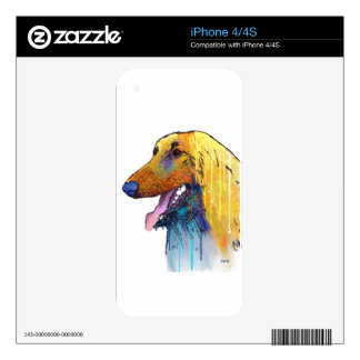 Afghan Hound Dog Skin For The iPhone 4S