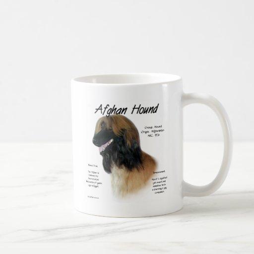 Afghan Hound (fawn) History Design Coffee Mug