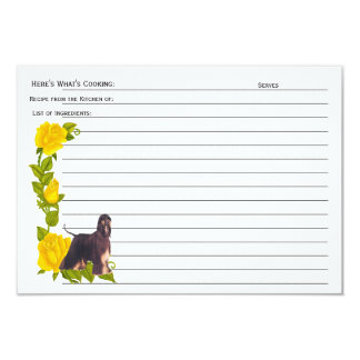 Afghan Hound, From the Kitchen of: recipe card