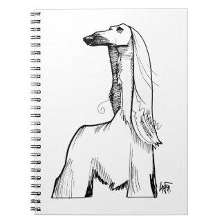 Afghan Hound Gesture Sketch Notebook