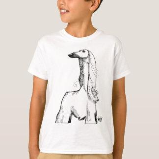 Afghan Hound Gesture Sketch T-Shirt
