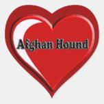 Afghan Hound Heart Heart Sticker
