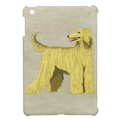 Case Savvy iPad Mini Glossy Finish Case with Afghan Hound Phone Cases design