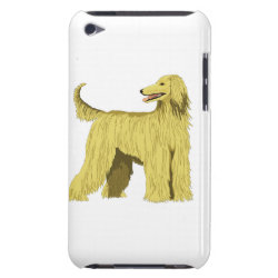 Case-Mate iPod Touch Barely There Case with Afghan Hound Phone Cases design