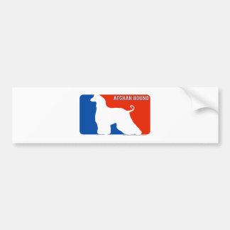 Afghan Hound Major League Dog Bumper Sticker Car Bumper Sticker
