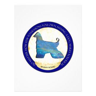 Afghan Hound Medallion Flyer