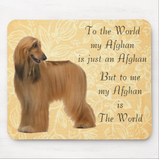 AFGHAN HOUND MOUSE PAD