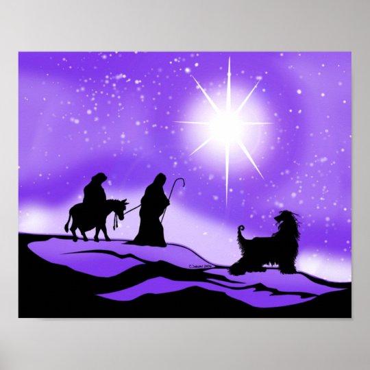 Afghan Hound Night Divine Poster