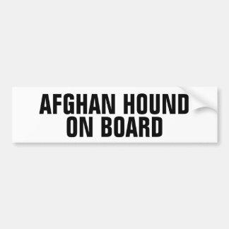 Afghan Hound on Board Car Bumper Sticker