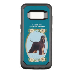OtterBox Commuter Samsung Galaxy S8 Case with Afghan Hound Phone Cases design