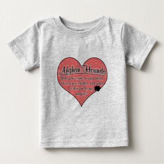 Afghan Hound Paw Prints Dog Humor Baby T-Shirt