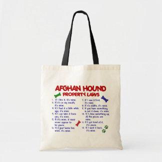 Afghan Hound Property Laws 2 Budget Tote Bag