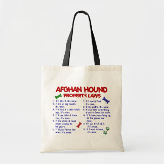 Afghan Hound Property Laws 2 Tote Bag