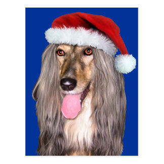 Afghan Hound Santa Claus Post Cards