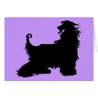 Afghan Hound Silhouette Cards