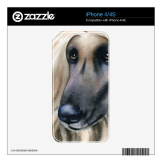 Afghan Hound Skin For The iPhone 4S