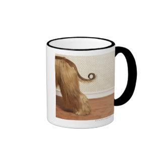 Afghan hound standing in room, end section ringer mug