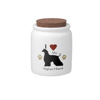 Afghan Hound Treat Candy Jar