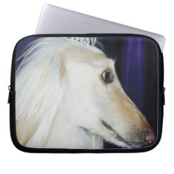 Neoprene Laptop Sleeve 10 inch with Afghan Hound Phone Cases design
