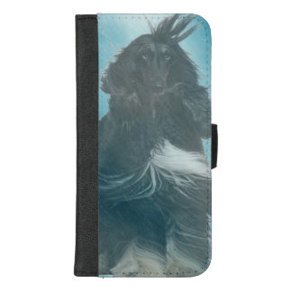 Afghan Hound Wind and Rain Blown iPhone 8/7 Plus Wallet Case