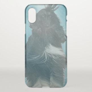 Afghan Hound Wind and Rain Blown iPhone X Case