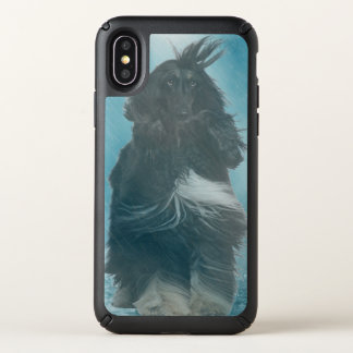 Afghan Hound Wind and Rain Blown Speck iPhone X Case