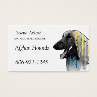 Afghan Hounds Business Card