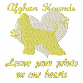 Afghan Hounds Leave Paw Prints Embroidered Shirt
