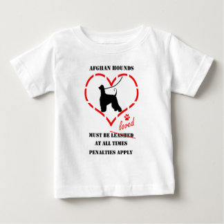 Afghan Hounds Must Be Loved Baby T-Shirt