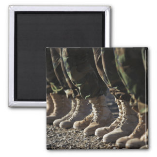 Afghan National Army Air Corp Soldiers 2 Inch Square Magnet