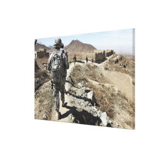 Afghan National Army and US soldiers Canvas Print