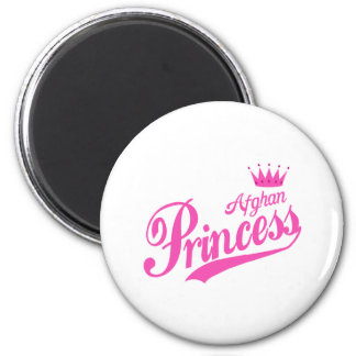 Afghan Princess 2 Inch Round Magnet