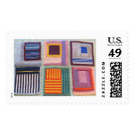 Afghan squares - knitting postage stamps