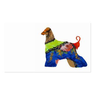 AfghanHound Patchwork Pet Business Cards