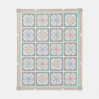 Afghani Tiles and Stripes - Pastel Variations Fleece Blanket