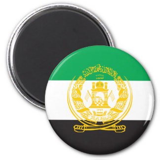 Afghanistan 1992 Flag 2 Inch Round Magnet