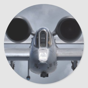 AFGHANISTAN A-10 CLOSEUP CLASSIC ROUND STICKER